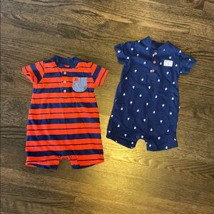 Carter's boat short- onesie bundle